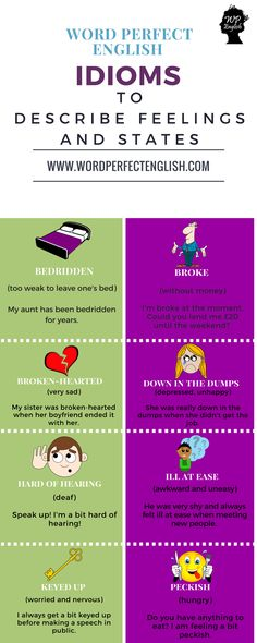 Idioms to Describe Feelings and States #learnenglish
