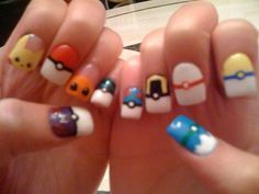 Pokemon and Pokeball Nails by Splodes on DeviantArt