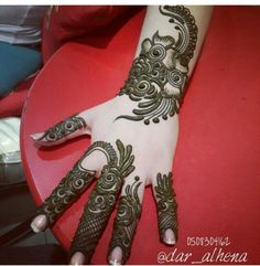 Beautiful Hijab Style For Wedding 2018 In Different Design Arabic Henna Designs, Unique Mehndi Designs, Beautiful Mehndi Design, Bridal Mehndi Designs, Henna Tattoo Designs, Beautiful Hijab, Rangoli Designs, Mehendi, Henna Mehndi