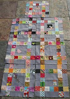 framed quilt block
