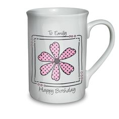 Personalised Daisy Message Mug   Valentines Day gift ideas