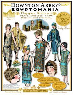 Downton Abbey Egyptomania Flapper Fashions
