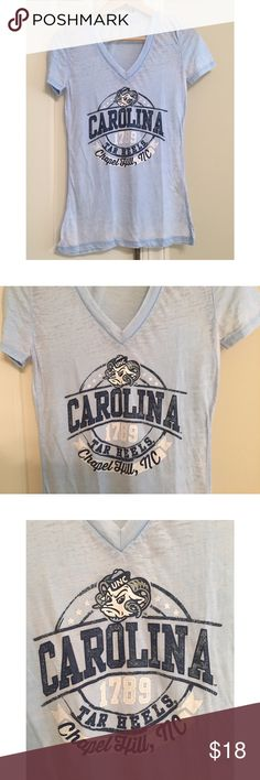 Carolina Tar Heels Top UNC Chapel Hill top purchased @ Target and never worn. Super cute and soft! Price is negotiable and please make offers! Target Tops Tees - Short Sleeve