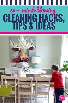 From bathrooms to kitchens and even laundry, we're sharing more than 30 genius home cleaning and organizing hacks, tips and ideas that will make your house shine enough to impress your mother-in-law. We're sharing our very favorite cleaning products, methods, lists, schedules and even some cleaning humor - because sometimes we just need to laugh about it - don't you think? #cleaning #organization #cleaninghacks #motivation #cleaningwithkids #kids #messyhouse