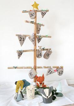 """BarneGuiden.DK: FABELAB """"In the woods"""" playful christmas calendar: Den fineste julekalender julekalender pakkekalender"""