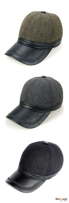 606332e0 US$15.29+Free shipping. Baseball Cap, Snapback Hats, Ears Flaps, Outdoor,  Winter, Warm, PU Woolen Material, Adjustable. Color: Black,Grey. Shop now~