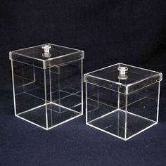 caixas de acrílico com tampa