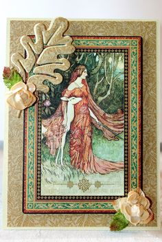 G45 Enchanted Forest Collection and Anna Griffin Seasonal card base and die.