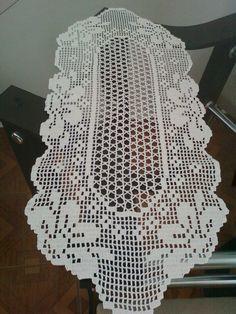 caminho de mesa, linha branca clea 90cm comprimento e 40 largura