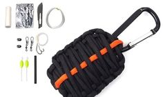 """Survival """"grenade"""" unwraps to provide useful fishing, fire-starting, and shelter-rigging tools"""