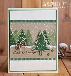 AEstamps a Latte. Stampin' UP! card creations by Annette Elliott. Printable Christmas Cards, Stampin Up Christmas, Christmas Cards To Make, Noel Christmas, Xmas Cards, Holiday Cards, Handmade Christmas Cards, Stampin Up Weihnachten, Christmas Preparation