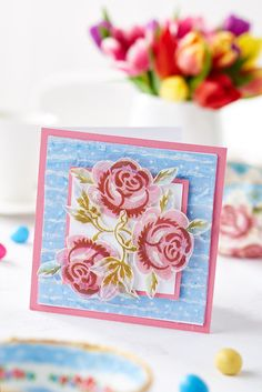 Find out how to make this decoupage rose card in our May 2015 issue, on sale now!