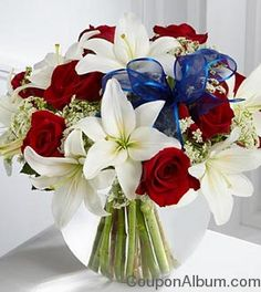 blue and white flower arrangements | FTD Labor Day Flower Gifts - 20% Off! | Online Shopping Blog