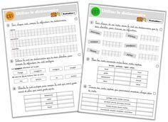 Fichier d'évaluation en vocabulaire CE1-CE2
