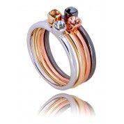pierścionek/ ring By Dziubeka Gothic Wedding Rings, Skull Wedding Ring, Gothic Engagement Ring, Gothic Rings, Bracelet Watch, Jewlery, Bling, Gemstones, Diamond