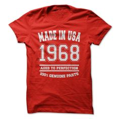 Made in USA 1968 All Genu... #Aged #Tshirt #year