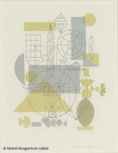 Ernst Mether-Borgström: Sommitelma, 1950-luku, litografia -Mether-Borgströmin säätiö 2016