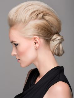 faux hawk sleek low updo ~ we ❤ this! moncheriprom.com