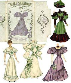 Бумажные куклы - старая, добрая игра с викторианских времён история , макеты и одежда