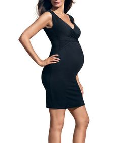 Take a look at this Black Ludi Maternity & Nursing Dress by Envie de Fraises on #zulily today! $29.99