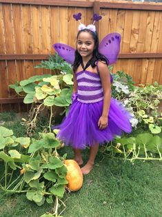 Purple Butterfly Fairy Tutu Dress costume dance girls 8/10 Butterfly Fairy, Purple Butterfly, Halloween Tutu Dress, All Things, Tulle, Flower Girl Dresses, Dance, Costumes, Wedding Dresses