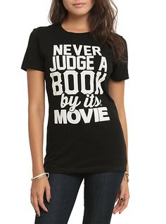 Never Judge By Movie Girls T-Shirt | Hot Topic