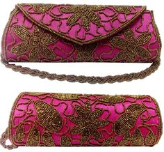 rez+steh pink handcrafted ethnic clutch is elegant for every beautiful princess. This golden beads embroidery makes attracts everyone attention n complete your ethnic attire and you will flaws in any occasion.