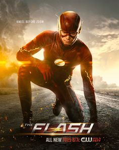 """Photos from the Vancouver set of """"The Flash"""" revealed Barry Allen (Grant Gustin) and Caitlin Snow's (Danielle Panabaker) Earth-Two doppelgangers. The Flash Mask, Zoom The Flash, O Flash, The Flash Poster, New Poster, The Flash Season 2, Flash Wallpaper, Superhero Shows, The Flash Grant Gustin"""