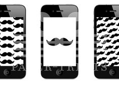 Giggle, I totally fancy a mustache wallpaper for my phone.