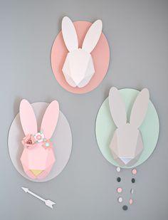 paper bunnies by Chloe Fleury