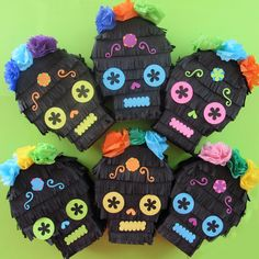 Check out this item in my Etsy shop https://www.etsy.com/listing/267187623/six-skull-pinata-mini-favors-for-fiesta