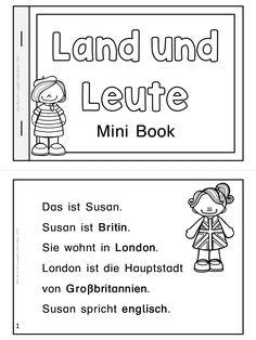 Kleines Lese- und Übungsheft für den DaF/DaZ Unterricht. Mit diesen Büchlein lernen Schüler spielend einfach die verschiedenen Nationalitäten, Hauptstädte, Länder und Sprachen.