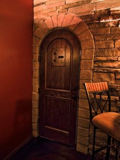 Wine cellar doors that are handcrafted to any specification you need. We also craft see-through wine cellar glass doors to minimize opening. Glass Wine Cellar, Wine Cellar Design, Wine Cellars, Wrought Iron Doors, Arched Doors, Round Door, Glass Door, Living Room Designs, Pictures