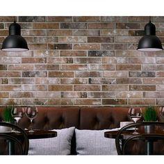 6x25cm London Brick Slip Multicolour tile by Rondine This is a porcelain tile…