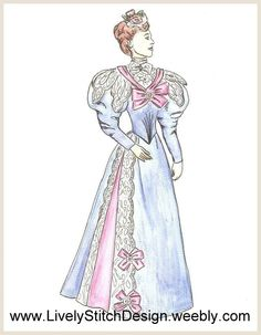 1894 Day Dress / sewing pattern for the Gene Marshall doll by Ashton Drake