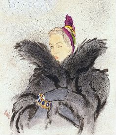 Illustrated by Eric for cover of Vogue, 1937