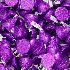 Purple Hersheys Kisses Dark Chocolate BULK (10 pounds) [41-5014013 Kisses Purple Bulk] : Wholesale Wedding Supplies, Discount Wedding Favors, Party Favors, and Bulk Event Supplies
