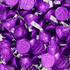 Purple Hersheys Kisses Dark Chocolate BULK (10 pounds) [41-5014013 Kisses Purple Bulk] : Wholesale Wedding Supplies, Discount Wedding Favors, Party Favors, and Bulk Event Supplies