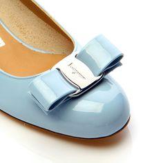 Salvatore Ferragamo | Vara Pump in Blue Pastel Patent | Happy Easter!