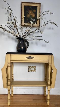 This custom piece is such a doll - Eldorado Design completed this piece with GF Somerset Gold Milk Paint and Java Gel Stain.