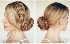 elegant braided hairstyles  | Elegant Hairstyle - The Big Braided Bun - AllDayChic