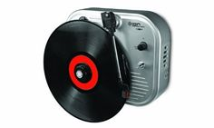 Ion IT27 Vertical Vinyl Wall-Mounted Turntable by Ion. $39.99. Wall-Mounted Turntable Plays Records Vertically; Onboard Speaker With Volume Control; 33/45 Rpm With 45 Adaptor; Ideal Where Space Is Limited; Battery Powered For No Wires When Mounted; 4 Aa Batteries Included; Optional Ac Adaptor Available Separately. Save 50%!