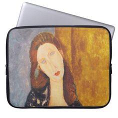 Jeanne Hebuterne portrait by Amedeo Modigliani Computer Sleeve - elegant gifts gift ideas custom presents