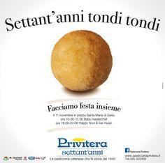 """PASTICCERIA PRIVITERA: """"SETTANT'ANNI TONDI TONDI"""""""