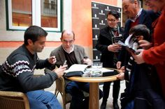Lançamento do livro, com sessão de autógrafos dos autores Joaquim Semeano e Vasco Parracho, em fevereiro de 2013