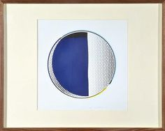 Modern + Traditional - Sale LJ5759 07 Jul 2013 11:00 Collingwood Lot 38 ROY LICHTENSTEIN (AMERICAN, 1923-1997)  Mirror #3 1972  linocut and screenprint in colours with embossing on Arjomari 39/80  signed and dated 'Roy Lichtenstein 72' lower right  editioned lower right  bears Gemini G.E.L. blindstamps Los Angeles lower right  68 x 68cm   #auction #modern art #interiors #bromley #design #Lichtenstein  #popart