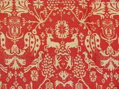 Turkey red piece of vintage fabric