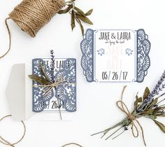 Rustic Wedding Suite - LOVE this DIY Save the Date card - super easy with the Cricut. Engaged, Wedding, announcements, Rustic wedding, floral wedding, bridesmaid, groomsmen