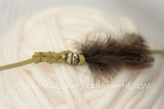 Newborn - Feather Leather Tieback II, €20.50 by My Own Lilliput - The Shop #newbornprop