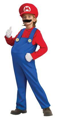 Deluxe Kids Mario Costume - Nintendo Mario Brothers Costumes